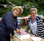 Ellisfield's Jubillee Party (Celia and Maggie with THE cake!)