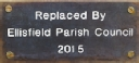 Gravel Pits: Parish Council Plaque